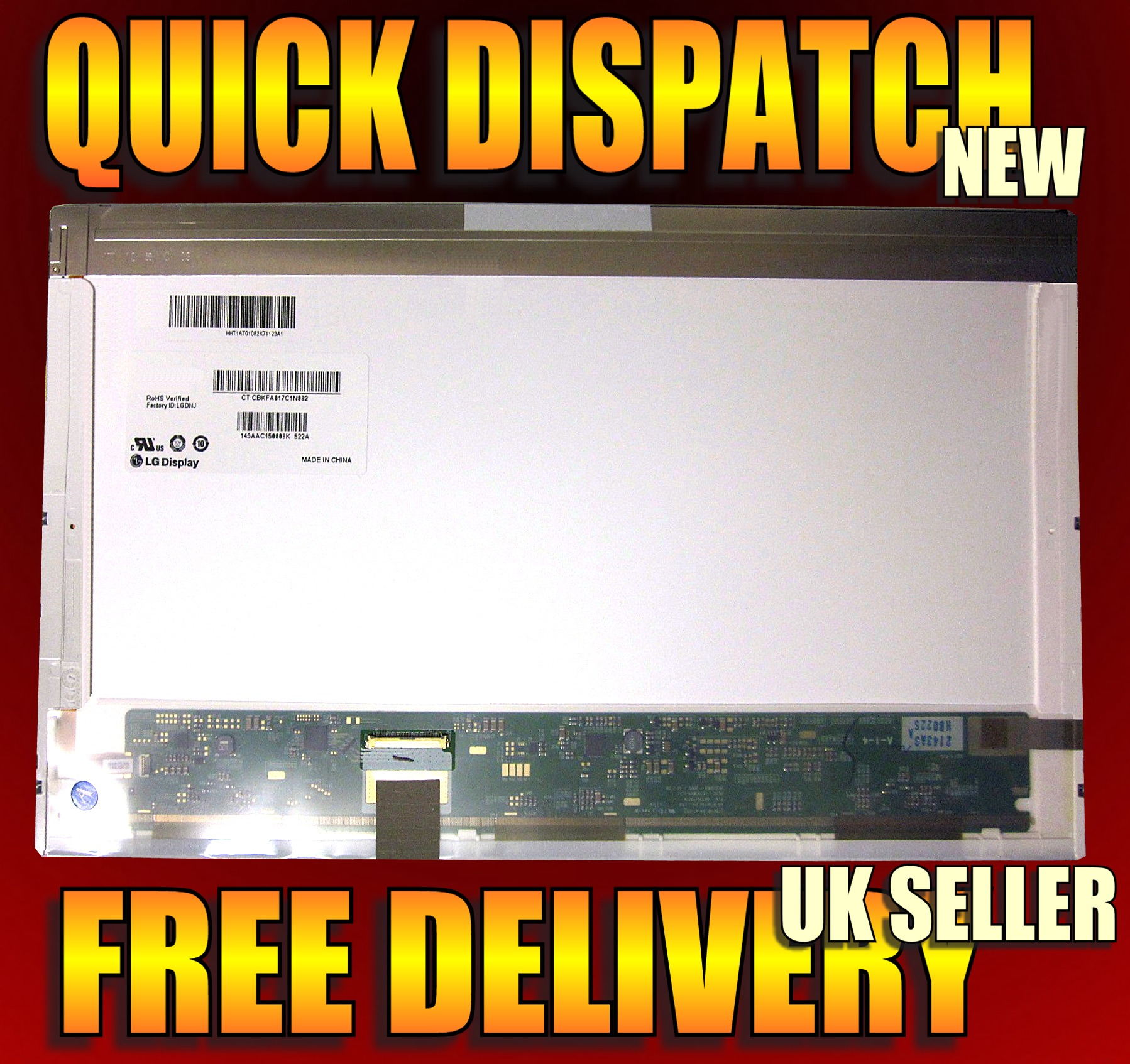 "New 17.3"" Glossy Laptop Screen For Dell Inspiron 1750"