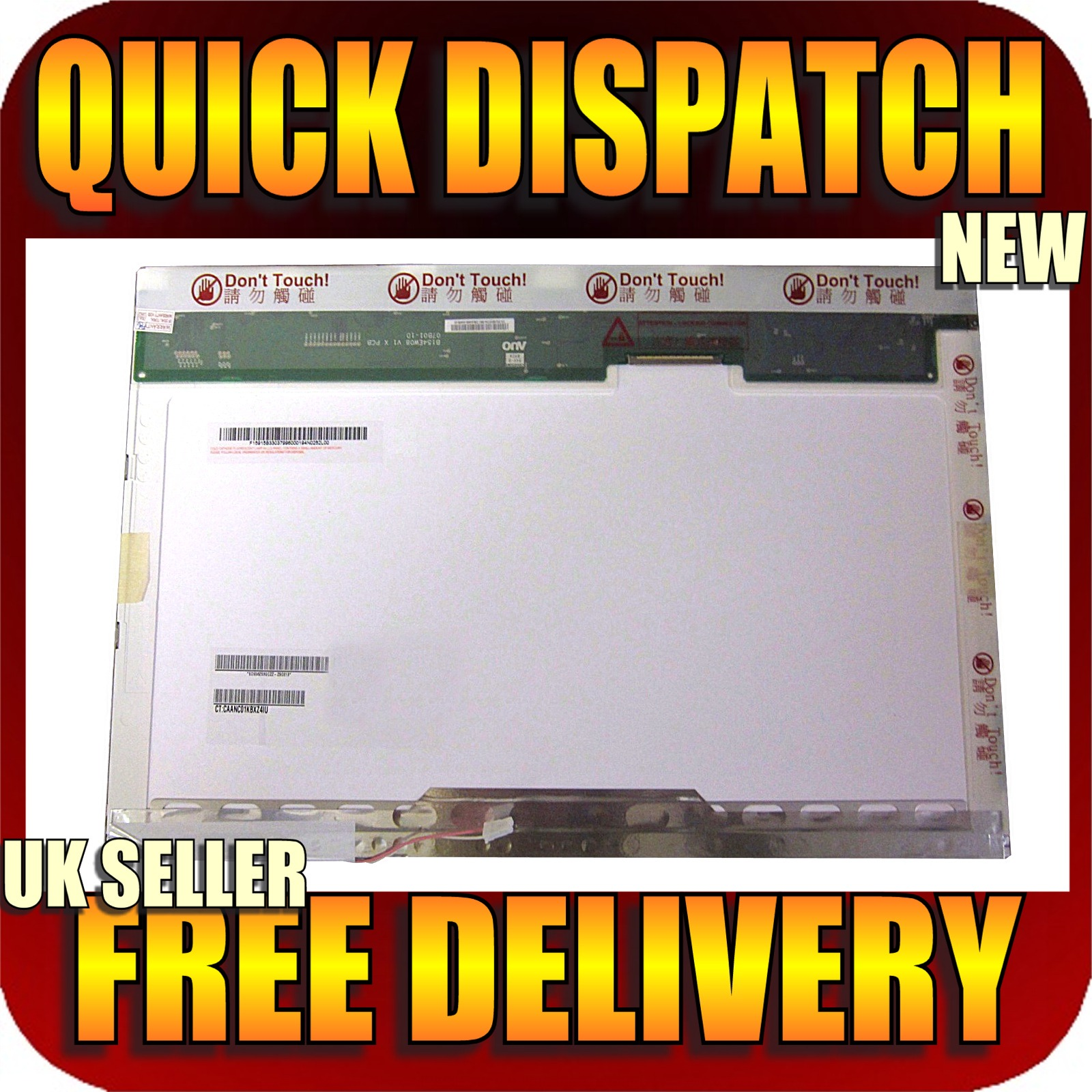 "LG PHILIPS LP154W01(TL)(A2) 15.4"" LAPTOP LCD SCREEN 1200 x 800,"